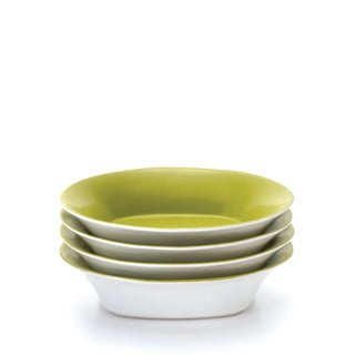 Rachael Ray 'Round and Square' 4-piece Green Apple Pasta Bowl Set