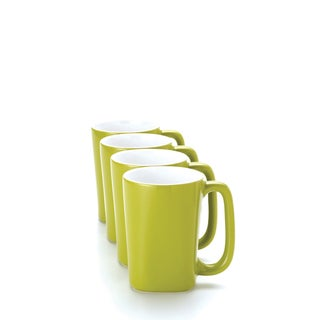 Rachael Ray 'Round and Square' 4-piece Green Apple Mug Set