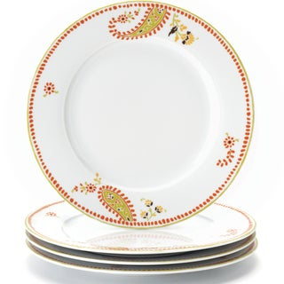 Rachael Ray Dinnerware Paisley 4-piece Dinner Plate Set 10.5-inch