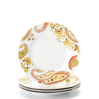 Rachael Ray Dinnerware Paisley 4-piece Salad Plate Set 8-inch