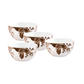 Paula Deen Tatnall Street Coffee Bean 5.5-inch Cereal Bowls (Set of 4)