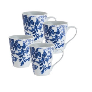 Paula Deen Tatnall Street Blue Bell 11-ounce Mugs (Set of 4)