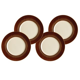 Paula Deen Dinnerware 4-piece Dinner Plate Set-Southern Gathering, Chestnut 11-inch