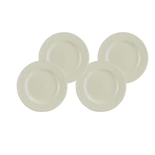 Paula Deen Whitaker Vanilla 11-inch Dinner Plates (Set of 4)