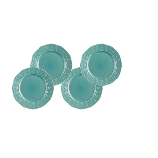 Paula Deen Whitaker Aqua 8-inch Salad Plates (Set of 4)
