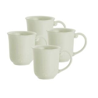 Paula Deen Whitaker Vanilla 12-ounce Mugs (Set of 4)