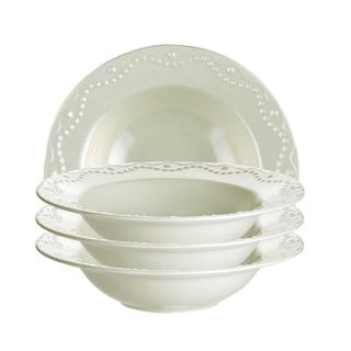 Paula Deen Whitaker Vanilla 9-inch Soup Bowls (Set of 4)