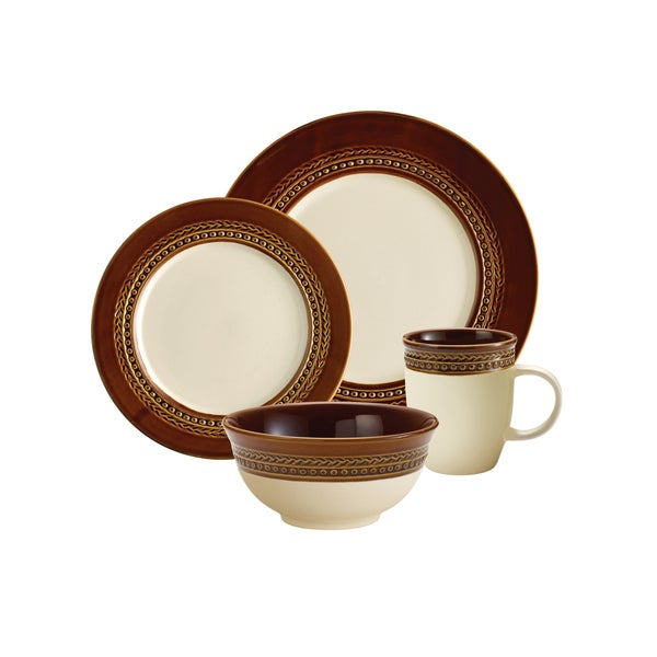 Paula Deen Chestnut Southern Gathering 4-piece Dinnerware Set