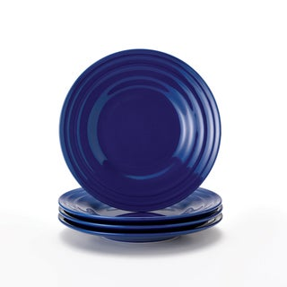 Rachael Ray Double Ridge Blue 8-inch Salad Plates (Set of 4)