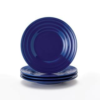 Rachael Ray Double Ridge Blue 8-inch Salad Plates (Set of 4)