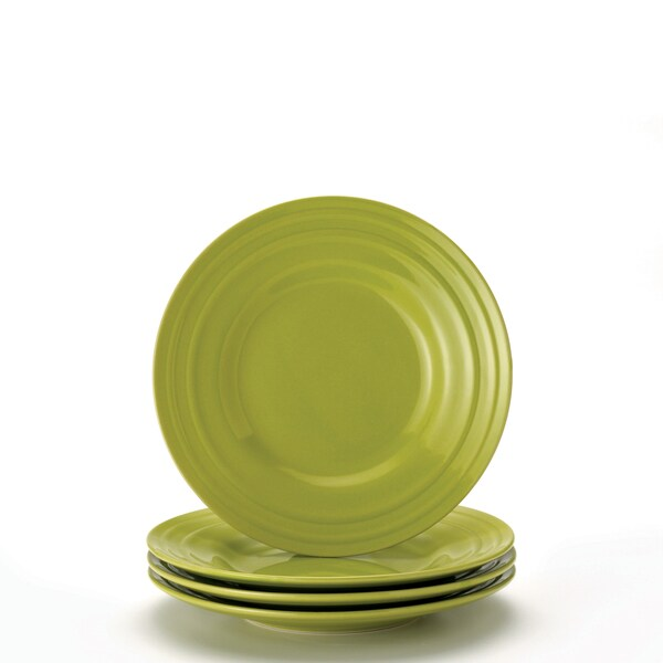 Rachael Ray Double Ridge Green 8-inch Salad Plates (Set of 4)