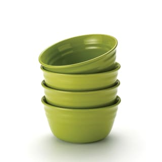 Rachael Ray Double Ridge Green 6-inch Cereal Bowls (Set of 4)