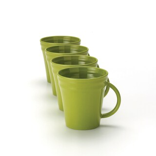 Rachael Ray Double Ridge 12-ounce Green Mugs (Set of 4)