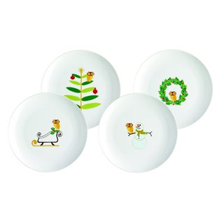 Rachael Ray Holiday Hoot 8-inch Dessert Plates (Set of 4)