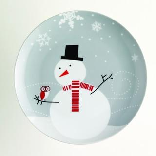 Rachael Ray Little Hoot Snowman 8-inch Dessert Plates (Set of 4)