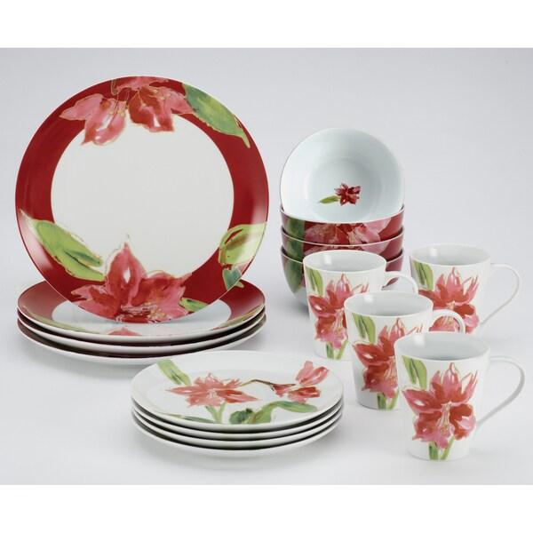 Paula Deen 'Signature Amaryllis' 16-piece Dinnerware Set