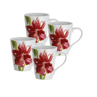 Paula Deen Signature Amaryllis 11-ounce Mugs (Set of 4)