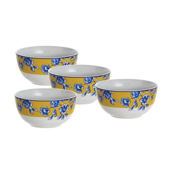 Paula Deen Signature Spring Prelude 5.5-inch Cereal Bowls (Set of 4)