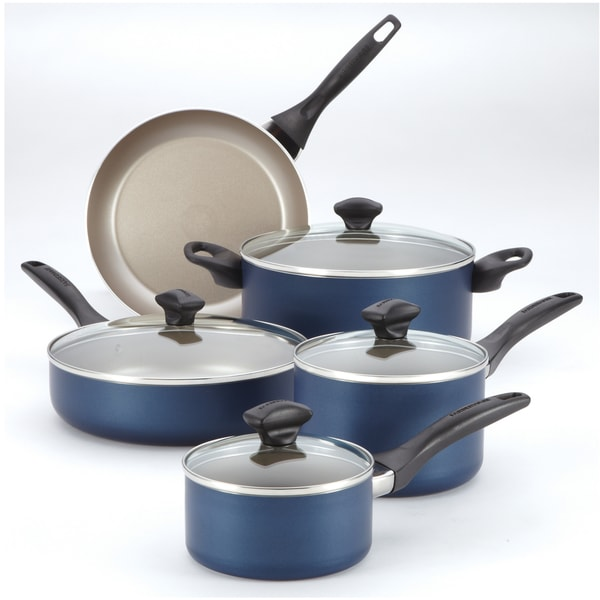 Farberware Blue Nonstick 12-piece Cookware Set **with $10 Mail-In Rebate**
