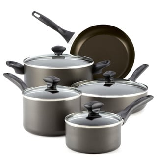 Farberware Dishwasher Safe Nonstick 12-piece Set, Charcoal