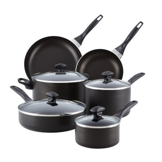Farberware Dishwasher Safe Black Nonstick 14-piece Cookware Set with $10 Mail-in Rebate