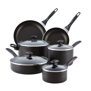 Farberware Dishwasher Safe Nonstick 14-piece Set, Black