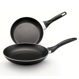 Farberware Dishwasher Safe Nonstick Twin Pack 8-inch and 10-inch Skillets, Black