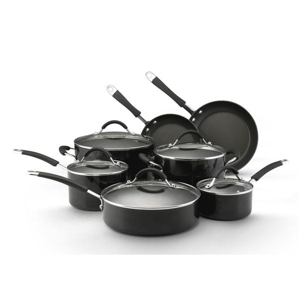 KitchenAid Black Porcelain 7-piece Cookware Set