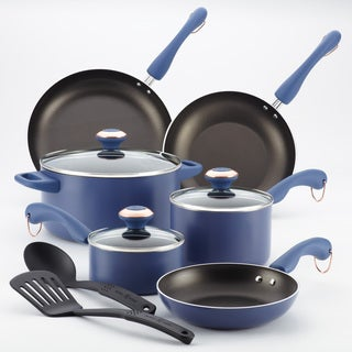 Paula Deen Signature AAP Blueberry 11-piece Cookware Set with $10 Mail-in Rebate