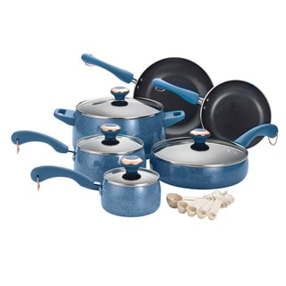 Paula Deen Signature Porcelain Blueberry Speckle 15-piece Cookware Set with $20 Mail-in Rebate