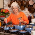 Paula Deen Signature Blueberry Speckle 15-piece Porcelain Cookware Set
