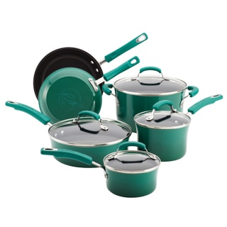 Rachael Ray Porcelain II Fennel 10-piece Cookware Set