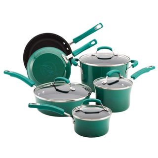Rachael Ray Hard Enamel Nonstick 10-piece Fennel Cookware Set with $30 Mail-in Rebate