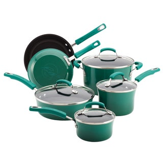 Rachael Ray Porcelain II Fennel 10-piece Cookware Set with $20 Mail-in Rebate