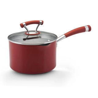 Circulon Contempo Red 3-quart Covered Straining Saucepan