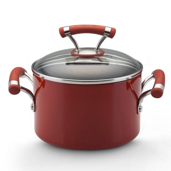 Circulon Contempo Red 3-quart Covered Saucepot