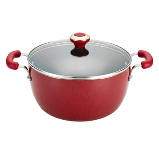 Paula Deen Signature Porcelain Red 5.5-Quart Covered Casserole