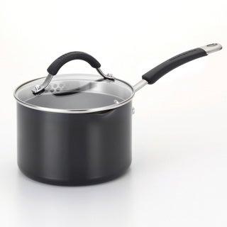 KitchenAid Porcelain Nonstick Black 2-Quart Straining Saucepan