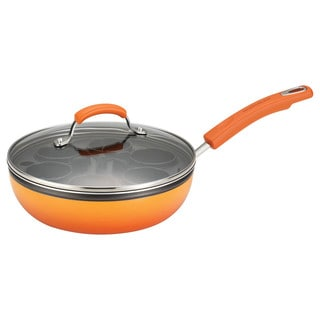 Rachael Ray Porcelain II Orange Egg Poacher Plus