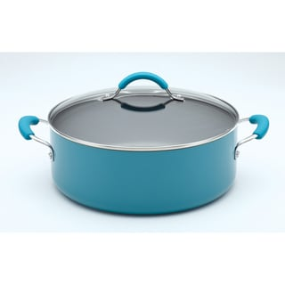 KitchenAid Aluminum 7.5-Quart Peacock Wide Stockpot
