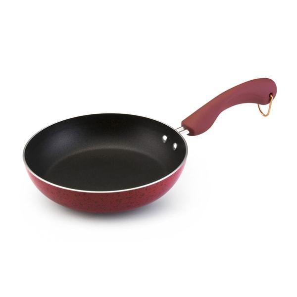 Paula Deen Signature Porcelain Nonstick Cookware 8-Inch Red Nonstick Skillet