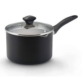 Farberware Dishwasher Safe Nonstick Black 3-quart Covered Saucepan
