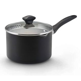 Farberware Dishwasher Safe Nonstick Black 3-quart Covered Saucepan