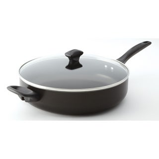 Farberware Dishwasher Safe Nonstick Black 5-Quart Covered Jumbo Cooker with Helper Handles