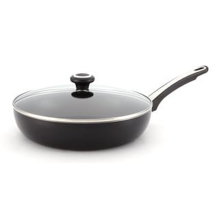 Farberware High Performance Nonstick Black 12-Inch Covered Deep Skillet