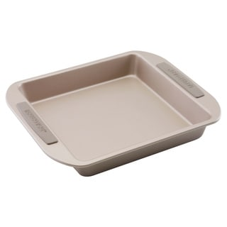 Farberware Soft Touch Bakeware 9-inch Square Cake Pan, Light Brown