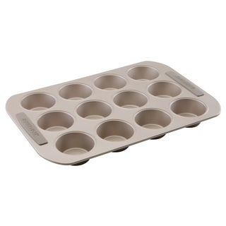 Farberware Soft Touch Bakeware 12-cup Muffin Pan, Light Brown