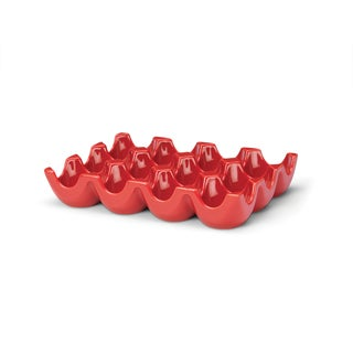 Rachael Ray Serveware, Sittin' Pretty Red Egg Tray