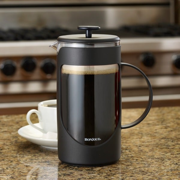 BonJour Coffee Ami-matin 8-cup Black French Press 10169137
