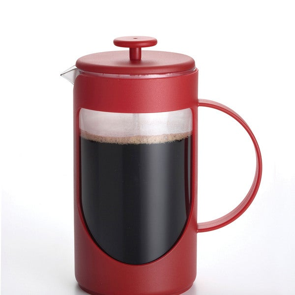 BonJour Coffee Ami-matin 8-cup Red French Press 10169138